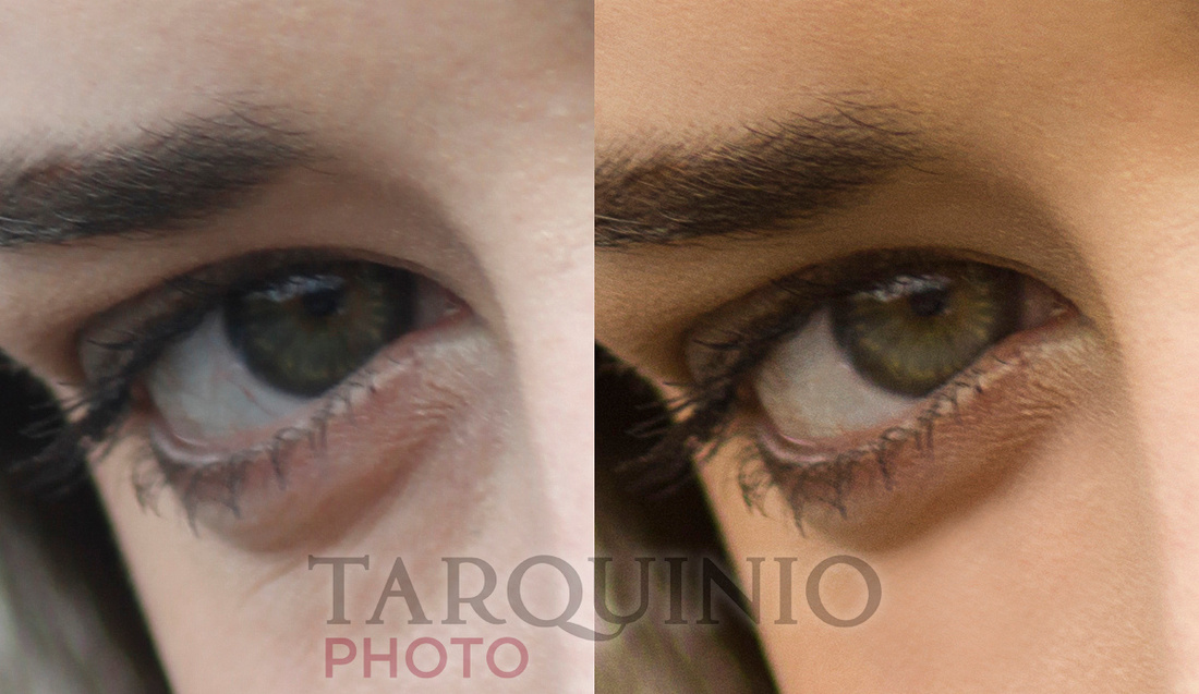 Eye Retouch Comparison Shot