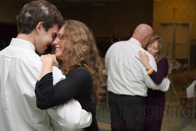 Candid Rubino wedding reception dancing.